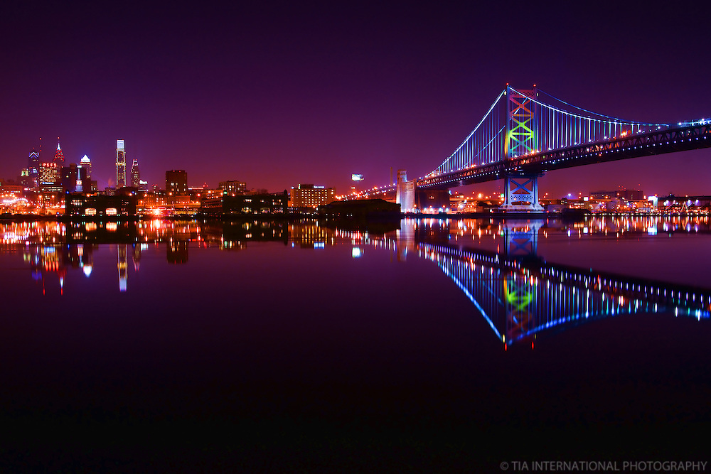 Philadelphia Skyline & Benjamin Franklin Bridge