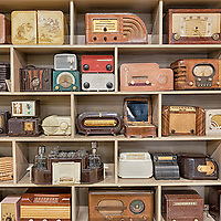An eclectic collection of old radios on display at the Vintage Radio and Communications Museum of CT