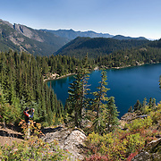 Hibox Mountain (6547 feet / 1996 meters), Rachel Lake, Alpine Lakes Wilderness, Wenatchee National Forest, Washington, USA. Published in Seattle Met magazine 2010. Panorama stitched from 7 images.