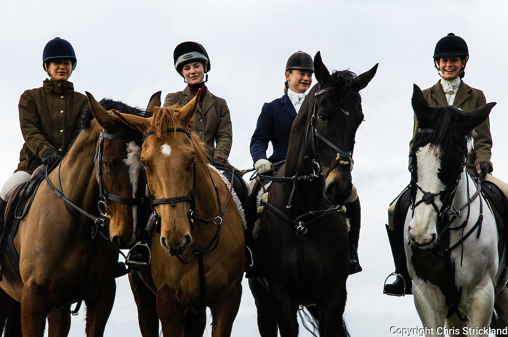 Whitton Edge, Hownam, Jedburgh, Scottish Borders, UK. 19th December 2015. A meet of the Jedforest Hunt.