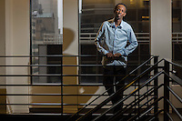 Barkhad Abdi was watching TV at home in Minneapolis when he saw an ad for a movie seeking Somali actors in his community. Never having acted before, Abdi auditioned and got the role, as a menacing pirate opposite Tom Hanks in &quot;Captain Phillips.&quot;<br /> <br />  Photographer: Robert Caplin For The LATimes