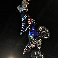 X-Knights, first event of the 2009 freestyle FMX International Cup at Figali Convention Center.Pictured: Asian freestyle motocross winner, Japanese Eigo Sato.