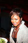 Brea Stinson(winner of the Concrete + Cashmere reality series) at The Alize Liquer Concrete + Cashmere Career Polishing Pack Luncheon held at The Blue Fin on August 19, 2009 in New York City..Life is more colorful when you mix it up so Alizé is bringing you the hip, edgy reality series Concrete + Cashmere. This show chronicles the lives of 6 adventurous,aspiring fashion professionals as they compete for $10,000 and mentoring from some of the brightest luminaries in the business through our Career Polishing Package...