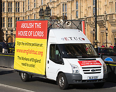 2017-03-07 Mobile billboard calls for the abolition of the House of Lords.