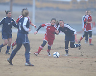 Lafayette High vs. Lewisburg in girls high school soccer action in Oxford, Miss., on Monday, January 18, 2011.