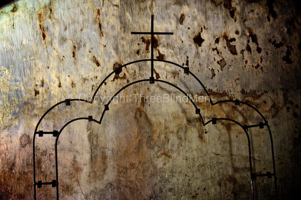 Detail of a Christian altar. Kayts island. Jaffna Peninsula.<br /> Jaffna homes. 2011