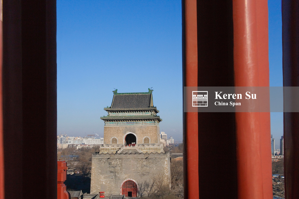 Ancient Bell Tower with lantern, Beijing, China
