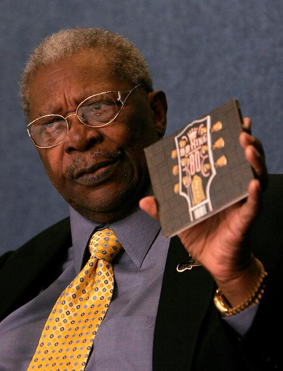 Jay Westcott/Examiner  ENT   Sept. 12, 2005 - Blues legend B.B. King will be celebrating his 80th birthday on Sept. 16.