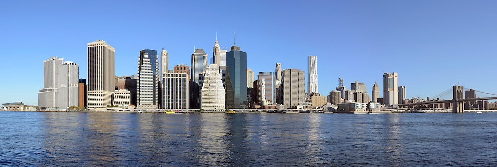 Panorama of Manhattan. View from East River.