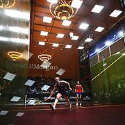 Squash. The J.P. Morgan Tournament of Champions Squash Tournament. Grand Central Terminal.
