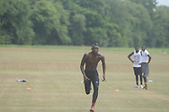 Dayall Harris attends the Southern Elite Combine at FNC Park in Oxford, Miss. on Wednesday, July 10, 2013.