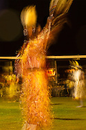 Crow Fair, powwow, Jingle Dancer, Crow Indian Reservation, Montana, blurred motion