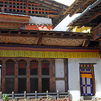 Asia, Bhutan, Bumthang. Jambay Lhakhang, a Buddhist temple dating back to the 7th century.