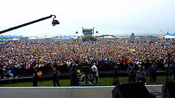 Crowd from the stage - Saturday before Muse, T in the Park, Balado, Fife, 7/7/2001..©2010 Michael Schofield. All Rights Reserved.