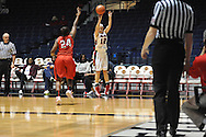 "Ole Miss' Gracie Frizzell (12) vs. Lamar's Alice Robinson (24) in women's college basketball at the C.M. ""Tad"" Smith Coliseum in Oxford, Miss. on Monday, November 19, 2012.  Lamar won 85-71."