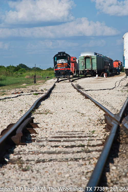The Bertram Flyer, of the Austin Steam Train Association, uses restored 20th century railcars and locomotives on its route between  Cedar Park, Texas, and Bertram. The Alco Diesel 442 locomotive uses diesel and electricity power and was built in 1960.