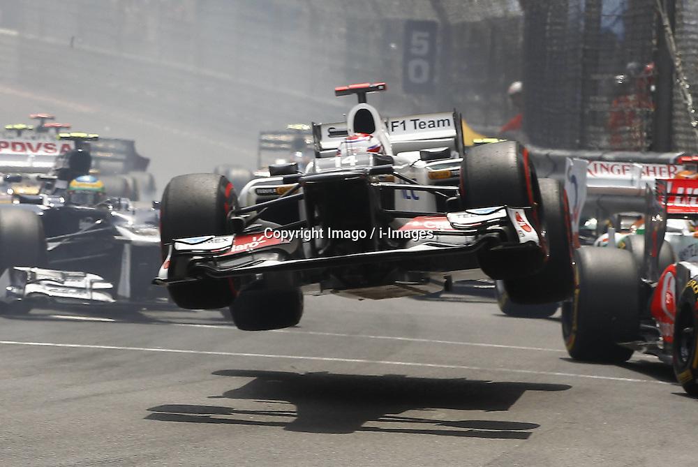 Crash of Kamui Kobayashi at  Monaco Grand Prix, Sunday, 27th May 2012.   Photo by: Imago / i-Images