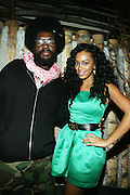 l to r : Quest?Love and Solange Knowles at Solange Knowles NYC Album release party held at Butter in New York City on September 5, 2008
