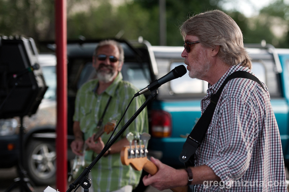 The High Beams' Don Cunningham performs at Burger Time on May 14, 2016 in Boise, Idaho.<br /> <br /> The High Beams: Rico Weisman (guitar), Don Cunningham (bass), Lawson Hill (drums)