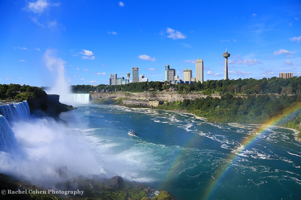 &quot;Niagara Falls and Rainbows&quot;<br /> <br /> A wonderful view of Niagara Falls and a beautiful double rainbow from the American side. Powerful, sparkling, colorful and vast!!<br /> <br /> Waterfalls by Rachel Cohen