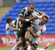 Reading, GREAT BRITAIN, Exiles, Mark IRELAND on the attack first half,  during the Guinness Premiership match London Irish vs Newcastle Falcons, at Madejski. England, Sun. 23.09.2007  [Mandatory Credit, Peter Spurrier/Intersport-images].....