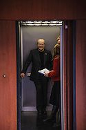 Filmaker Manoel de Oliveira, portrayed in a lift in Berlin in March 3rd 2009.