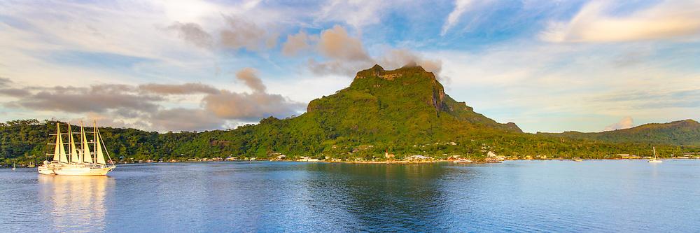 Windspirit, Sailing Cruise ship, Windstar Cruises, Vaitape, Bora Bora, French Polynesia
