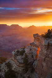 Sunrise from Yaki Point on the South Rim of Grand Canyon National Park.