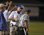 Oxford High head coach Johnny Hill vs. Grenada in Oxford, Miss. on Friday, August 17, 2012. Oxford won 28-22.