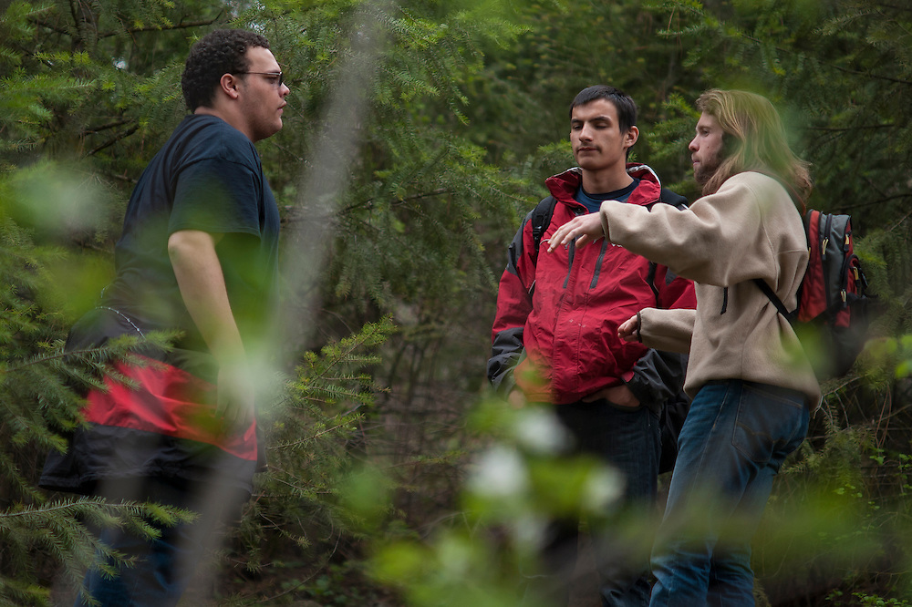 GU outdoors leads a hiking trip with local middleschoolers.