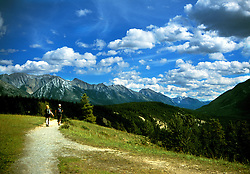 On the way to Hoodoos, Banff area in  Alberta, Canada. <br />