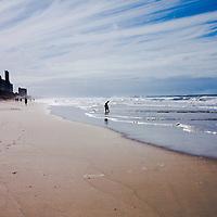 Man and Child on Beach