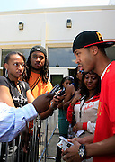 """Terrence J at the Hip-Hop Summit's """"Get Your Money Right"""" Financial Empowerment International Tour draws hip-hop stars and financial experts to teach young people about financial literacy held at The Johnson C. Smith University's Brayboy Gymnasium on April 26, 2008..For the past three years, hip-hop stars have come out around the country to give back to their communities. Sharing personal stories about the mistakes they've made with their own finances along the way, and emphasizing the difference between the bling fantasy of videos and the realities of life, has helped young people learn the importance of financial responsibility while they're still young. With the recent housing market crash in the United States affecting the economy, jobs, student loans and consumer confidence, young people are eager to receive sound financial advice on how to best manage their money and navigate through this volatile economic environment.."""