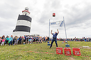 31-7-16<br /> <br /> Dave Coughlan from Thomastown Co. Kilkenny pictured taking part in the Hook Lighthouse, Hook Strongman Challenge 2016 in Wexford in aid go Fight Motor Neurone Disease, www.imnda.ie.<br /> <br /> Picture Dylan Vaughan