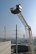 Fire fighters pneumatic, platform for fire fighting and rescue