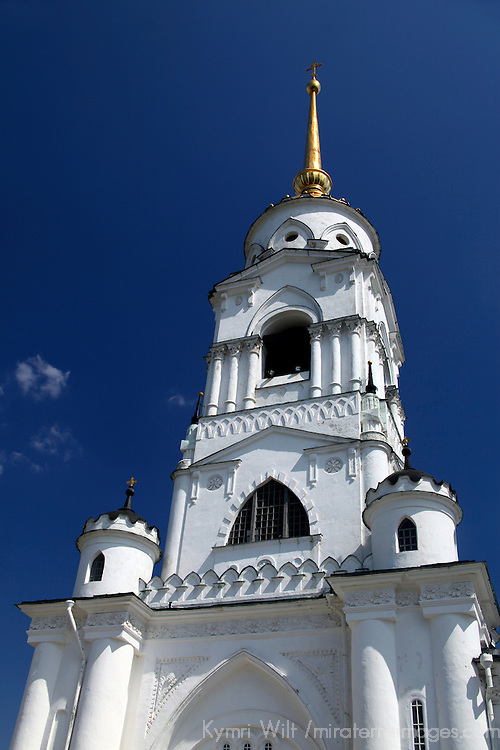 Europe, Russia. Vladimir. Bell tower of the Dormition Cathedral, Vladimir.