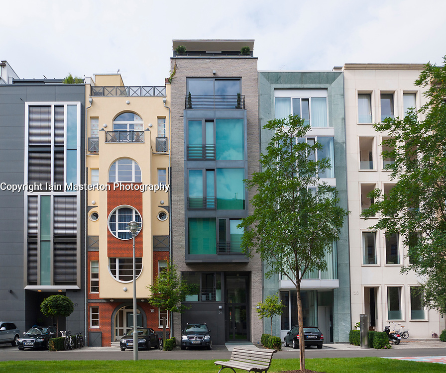 Modern luxury townhouses in Mitte district of Berlin, Germany