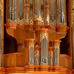 Fuchs organ in Lagerquist Hall of the Mary Baker Russell Music Center at PLU. (Photo/John Froschauer)