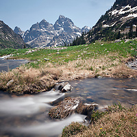 WY00617-00...WYOMING - North Fork Cascade Canyon below Lake Solitude in Teton National Park.