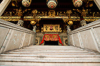 Leong San Tong Khoo Kongsi or Khoo Kongsi for short is one of the most distinctive Chinese clan associations in Malaysia. It is well known worldwide for its extensive lineage that can be traced back 650 years, as well as its closely-knit and defensive congregation of buildings and a magnificent clanhouse. To make it to Leong San Tong, which is perhaps the most majestic clanhouse in South East Asia, you will need to pass through an alley between two rows of 19th century terrace houses before you reach it in its secluded square.