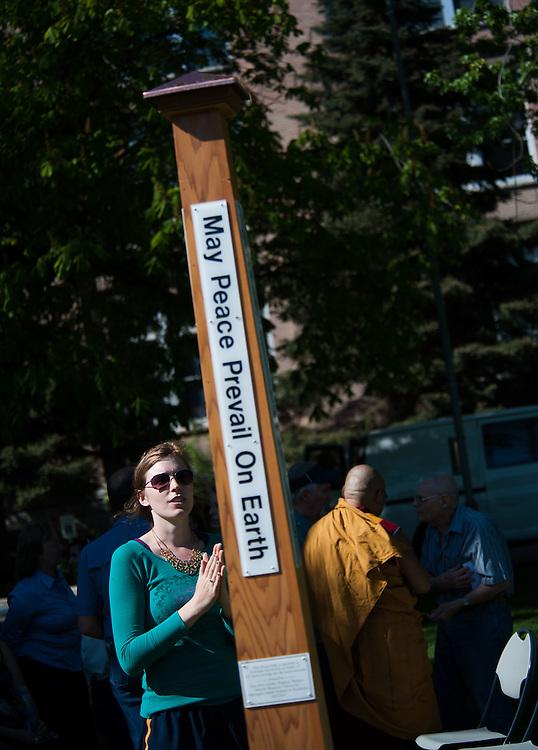 Peace Pole Dedication <br /> Photo by Rajah Bose
