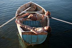 Callan McAuliffe asQuick Lamb and Tom Russell as Fish Lamb Photograph by David Dare Parker