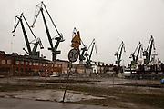 Iconic cranes of Gdansk shipyard<br /> <br /> Gdansk and Remontowa Shipyards