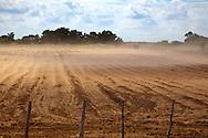 Dusty field near Las Martinas, Pinar del Rio, Cuba.