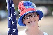 Holli Ratcliffe in the 4th of July parade in Oxford, Miss. on Wednesday, July 4, 2012.