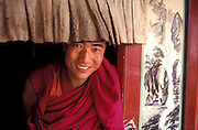 Tibetan monks are generally very pleasant to foreigners..LAMBRANG MONASTERY IN XIAHE - CHINA.copyright: Androniki Christodoulou.