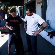 Stohlquist triathletes Stefan Daniel and Brent McMahon.