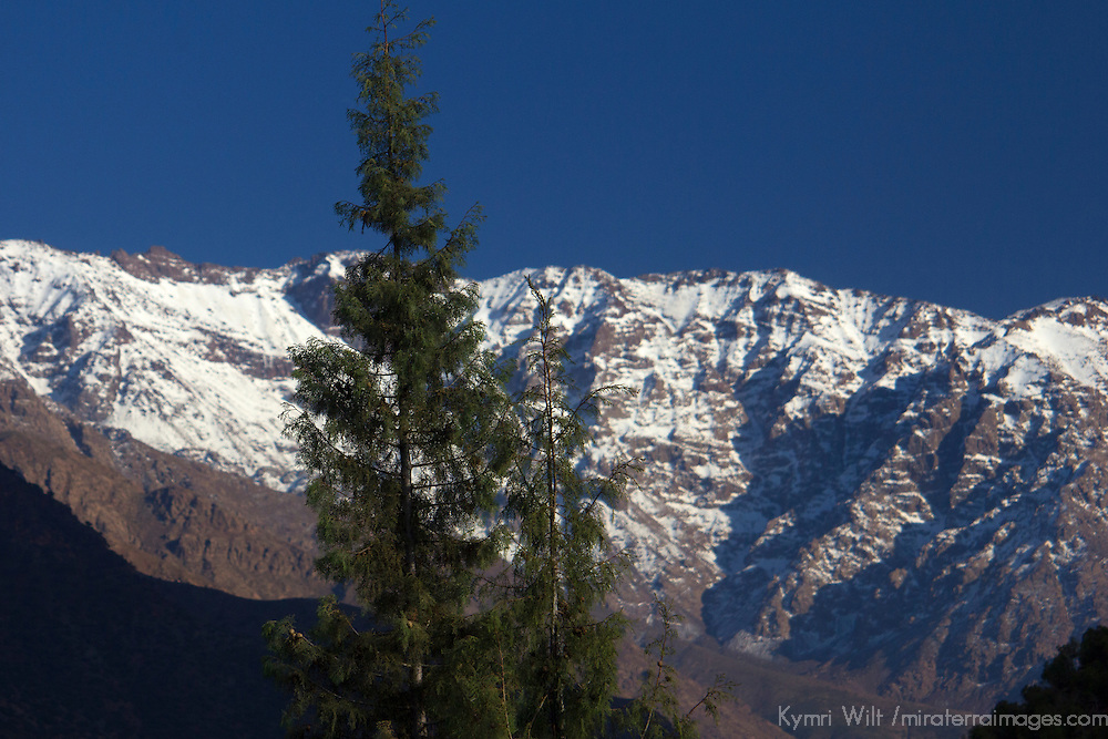 Africa, Morocco, Asni. View of Toubkal Mountains from Kasbah Tamadot.