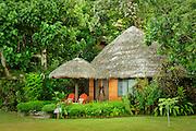 Bure guest lodging at Matangi Private Island Resort, Fiji.