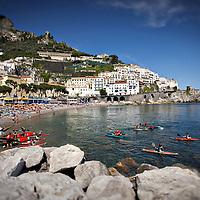 Coastal activities, Amalfi Coast,  Italy.